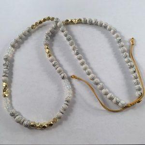 Unique bead statement necklace
